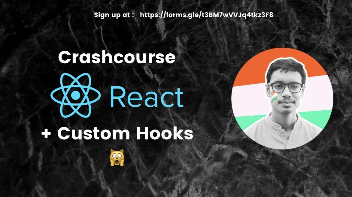 React Crashcourse + Live Tutorial