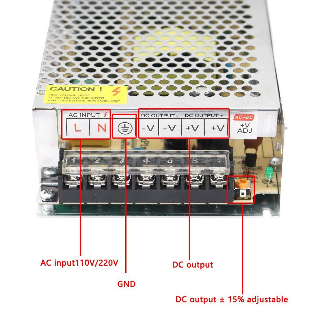 Source of supply with switch 12v to 2a 220v adapter