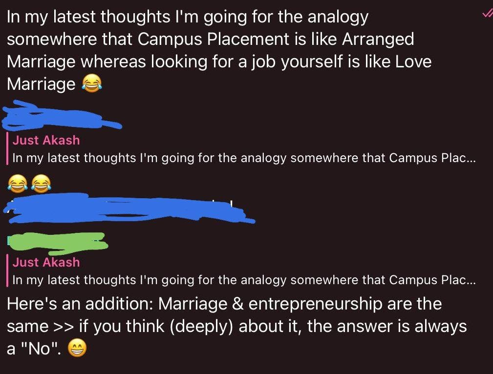 Why Startups are Like Love Marriages