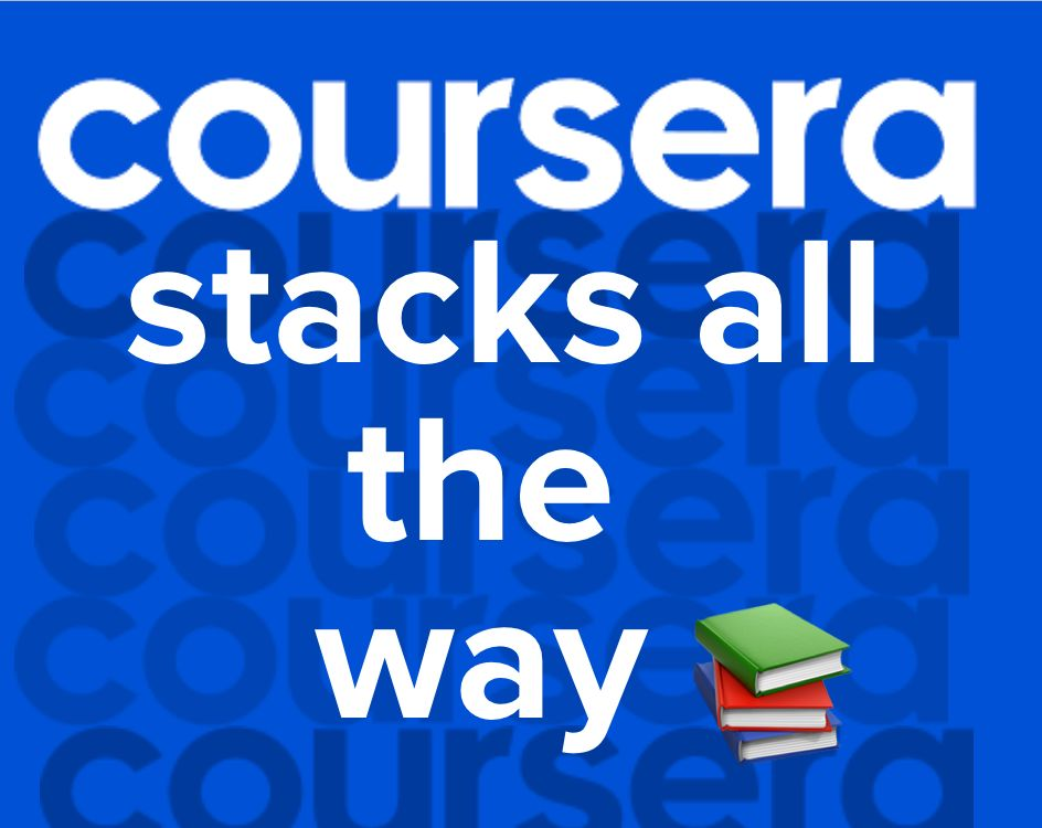 Coursera Stacks All The Way 📚 Transcend Newsletter #40
