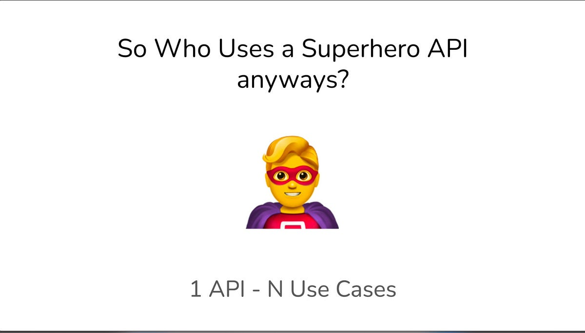 So Who Uses a Superhero API anyways? (YT)