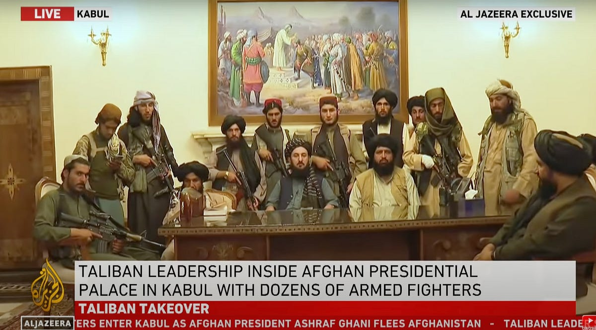 """""""The Taliban regime is coming to an end,"""" announced President George W. Bush at the National Museum of Women in the Arts on December 12, 2001 —"""