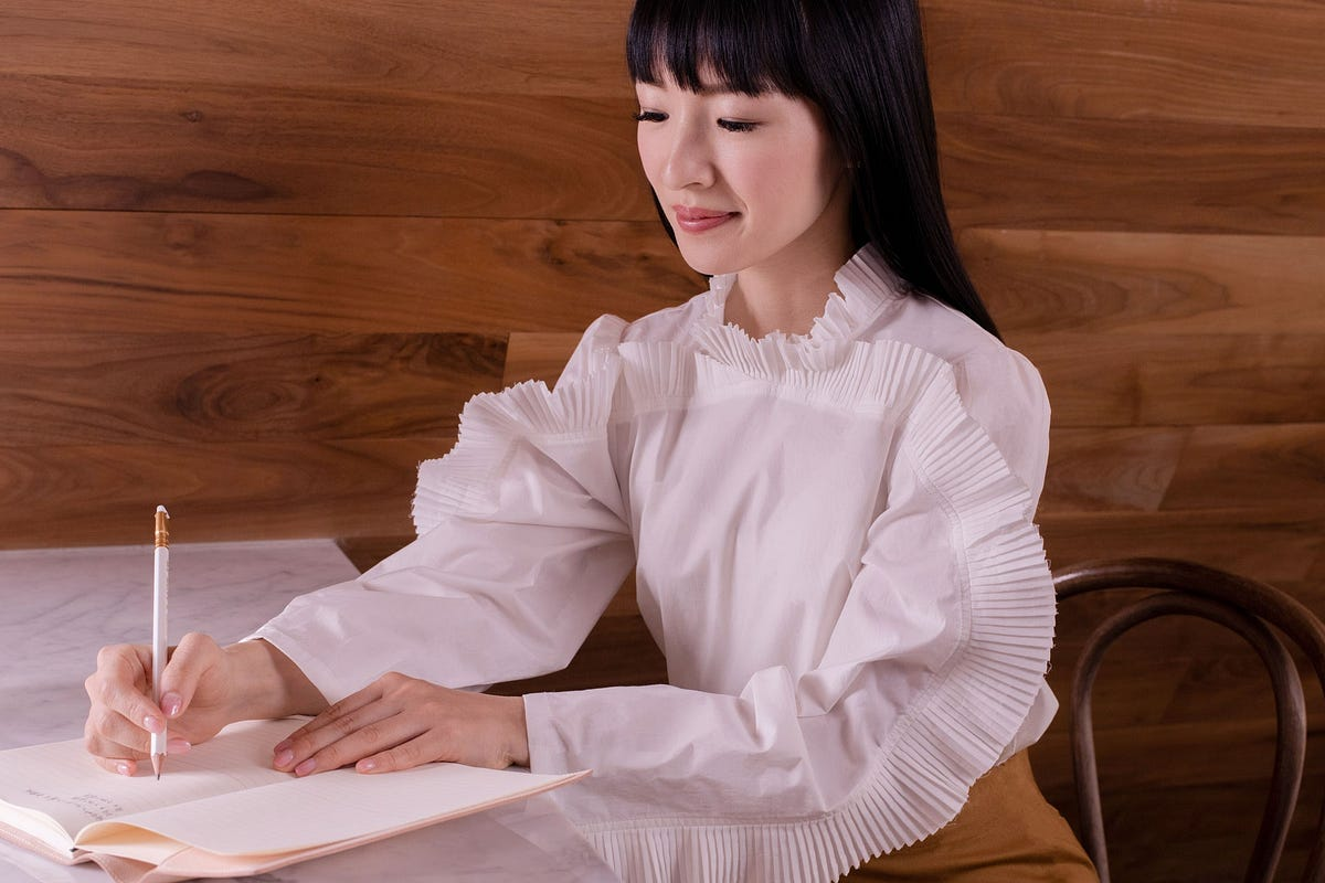 The common notion about Marie Kondo is that she wants you to throw out nearly everything you own. But the truth is that she never says this. Not once