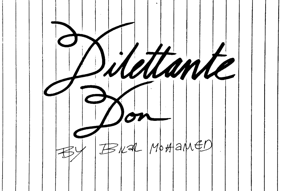 The Dilettante Don
