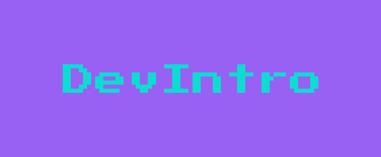 Dev Intro