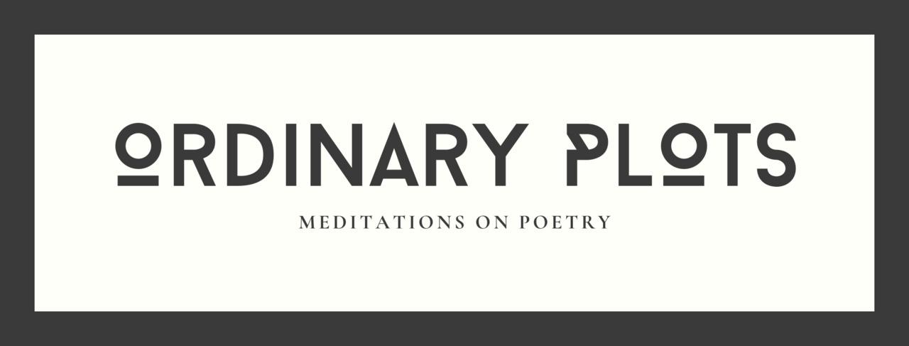 Ordinary Plots: Meditations on Poems + Verse