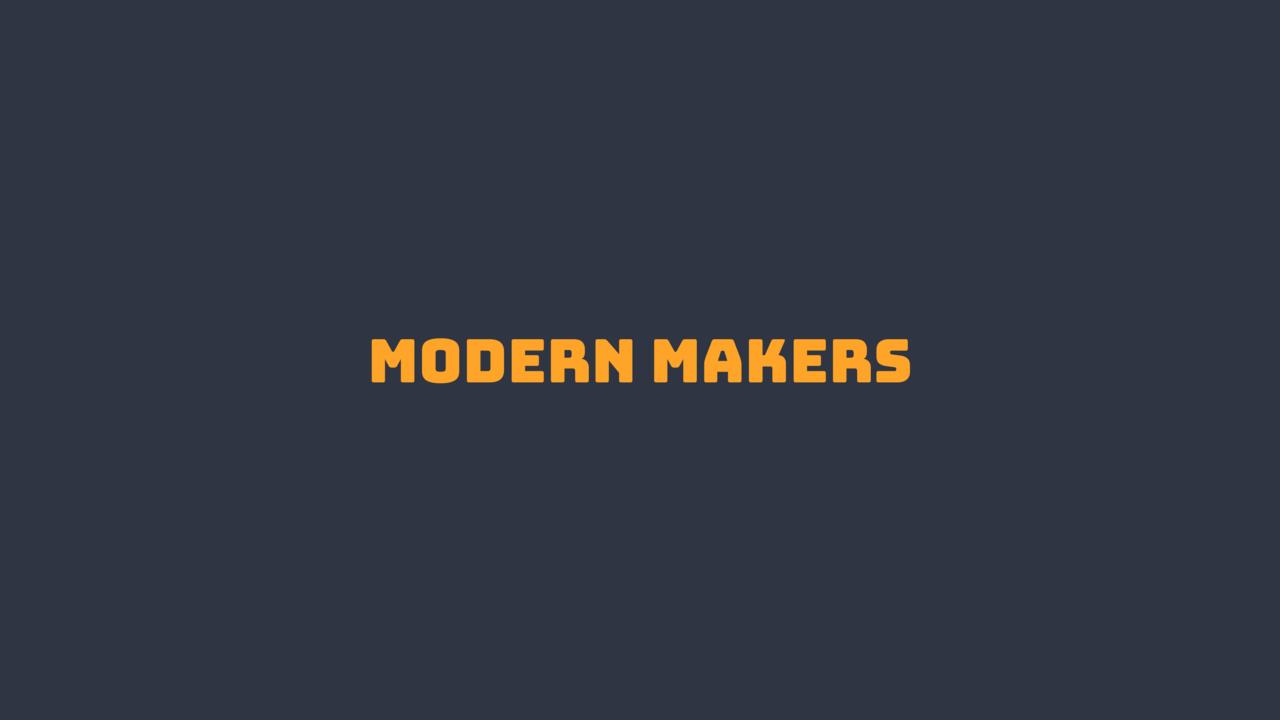 Modern Makers - English Edition
