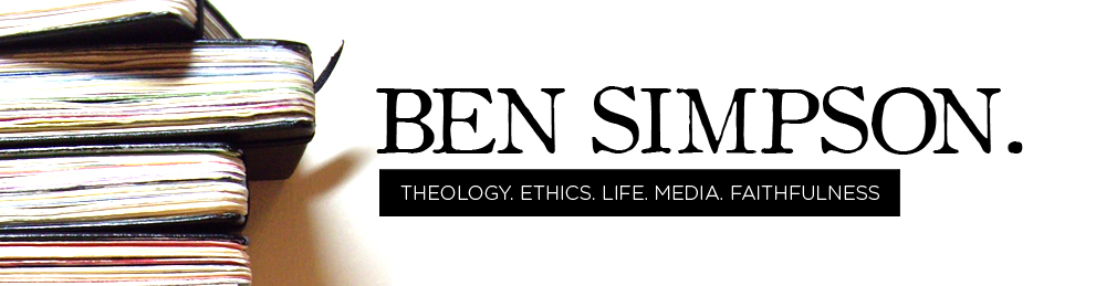 Ben Simpson's Faith & Formation Newsletter