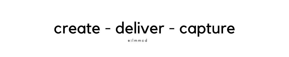 Create, Deliver, Capture