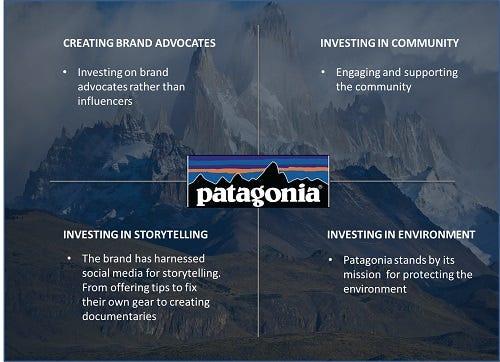 Patagonia Marketing Pillars