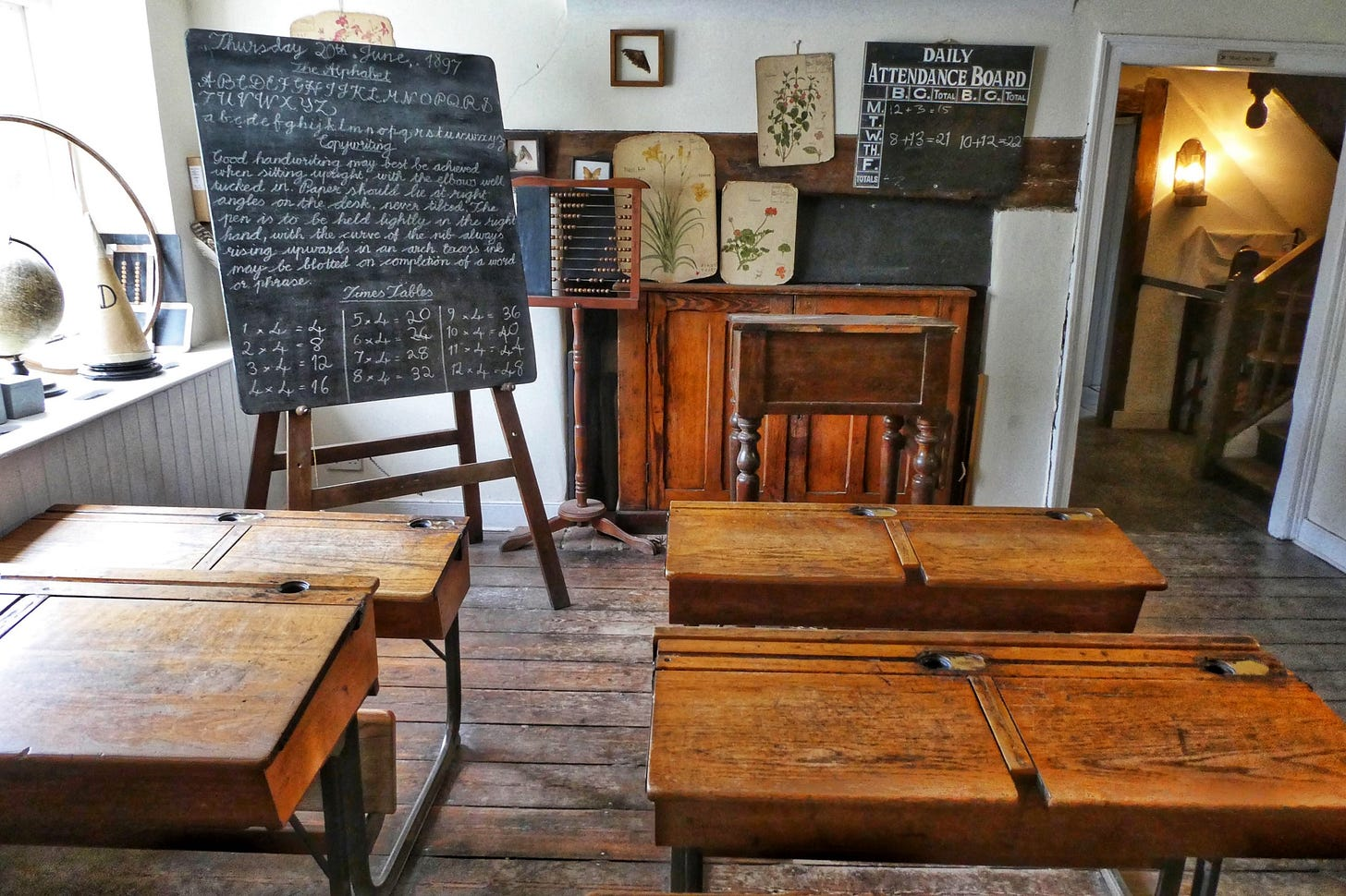 image of an old classroom for article by Larry G. Maguire