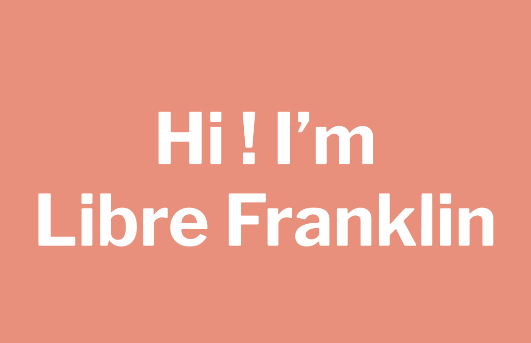 img: Samples of Libre Franklin