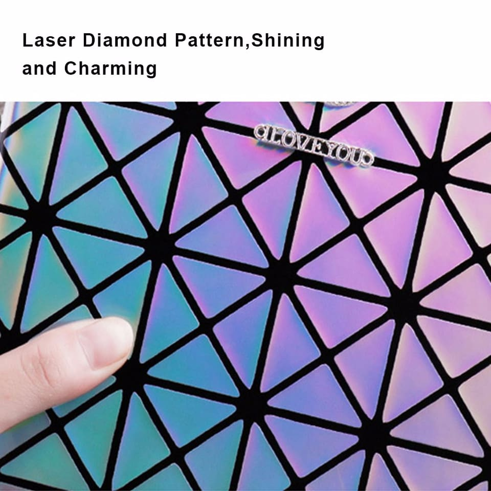For Ipad 9.7 inch Portable Laser Diamond Pattern i Pad Case Clamshell Multi-Angle Support Smart Flip Tablet Case