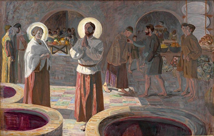 Niels Larsen Stevns Painting - The Wedding At Cana by Niels Larsen Stevns