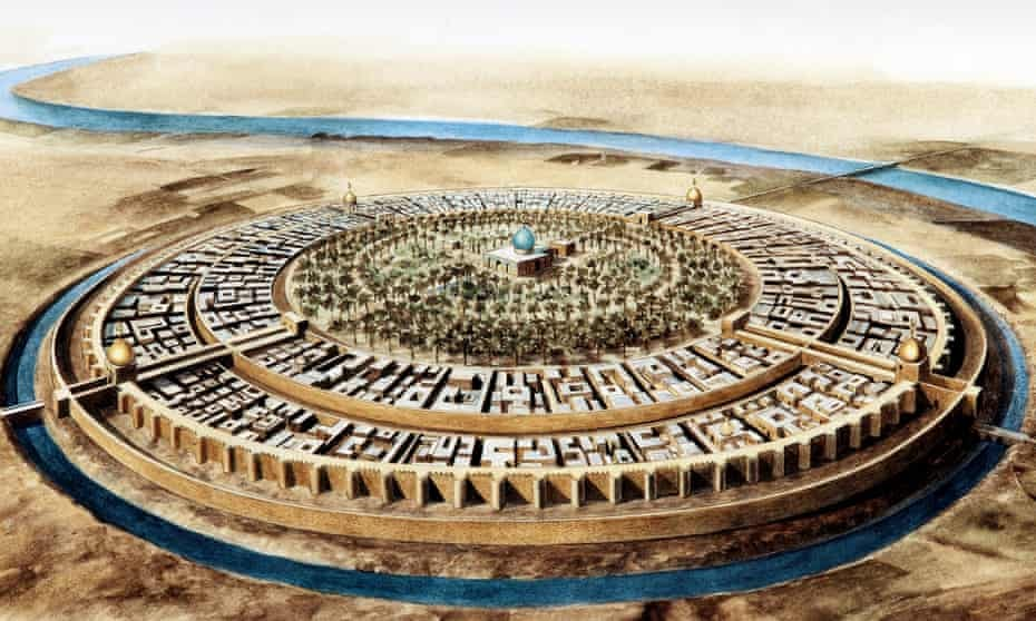 An illustration of Baghdad.