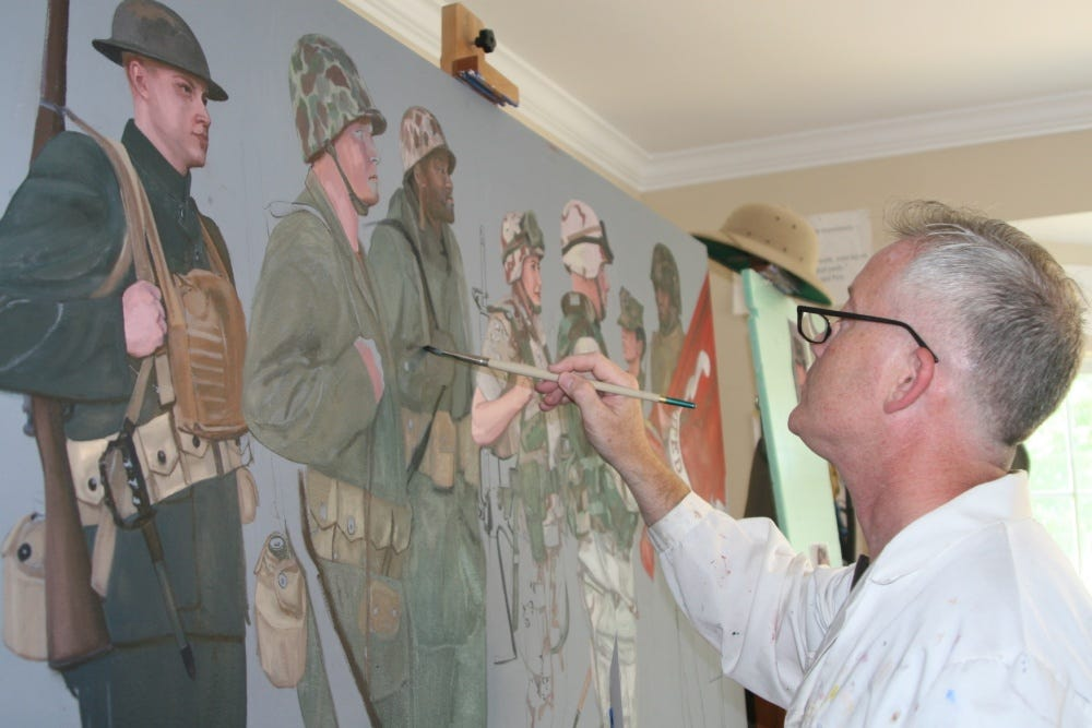 Veteran Marine painter gives life to Reserves in celebration of centennial