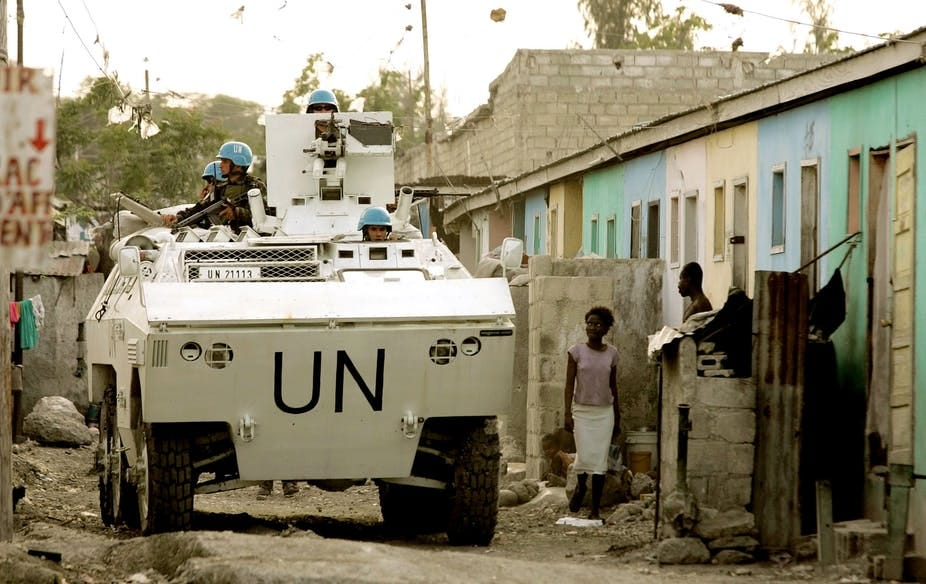 Image result for peacekeepers in haiti