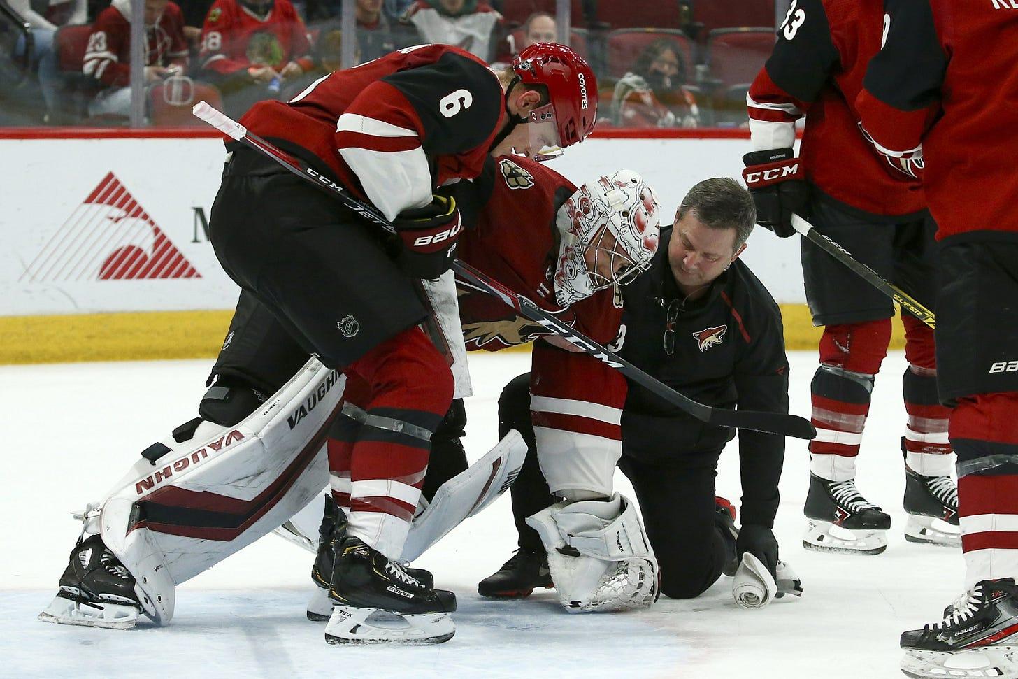 Coyotes goalie Kuemper week to week with lower-body injury