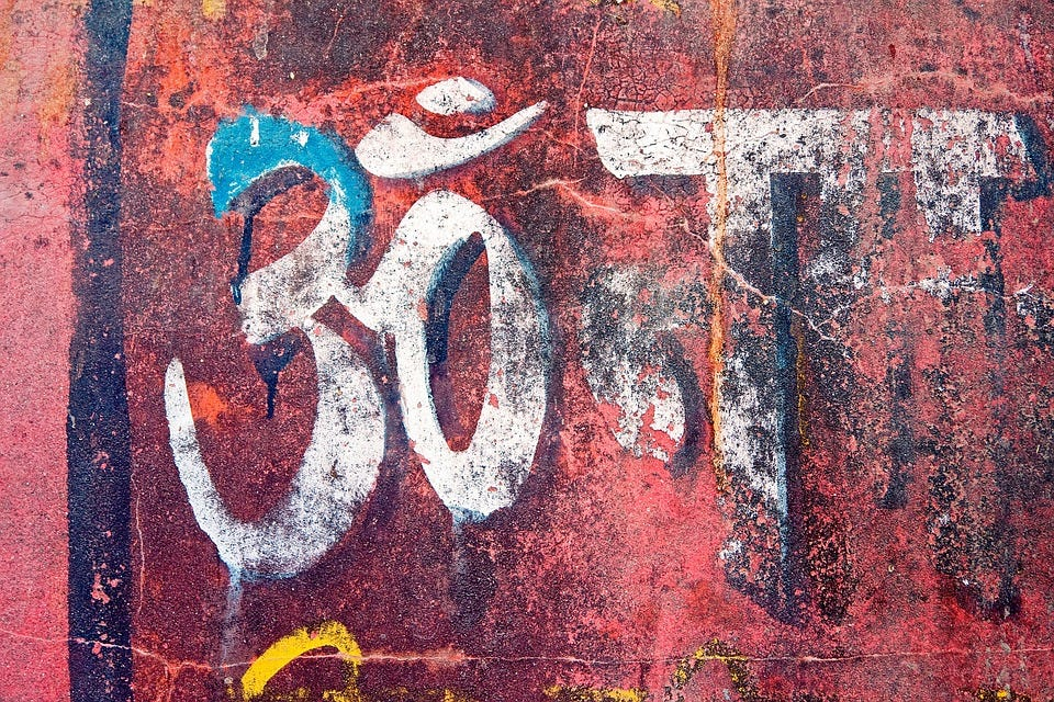 Graffiti, Texture, Wall, Text, Devanagari, Om, Words