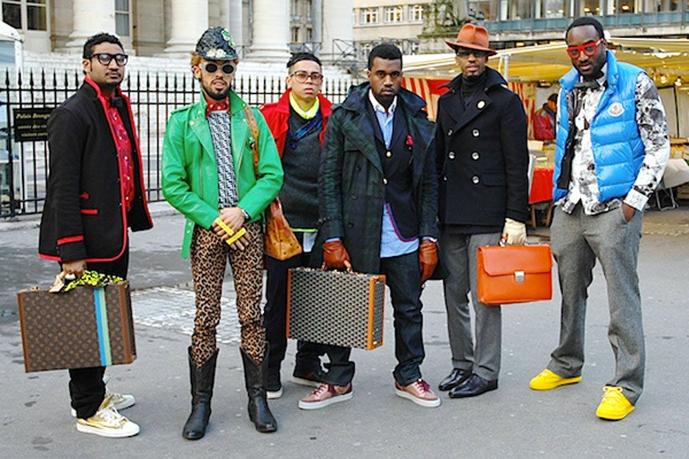 The Story Behind Kanye West's Breakout Street Style Moment at Paris Fashion  Week   Vogue