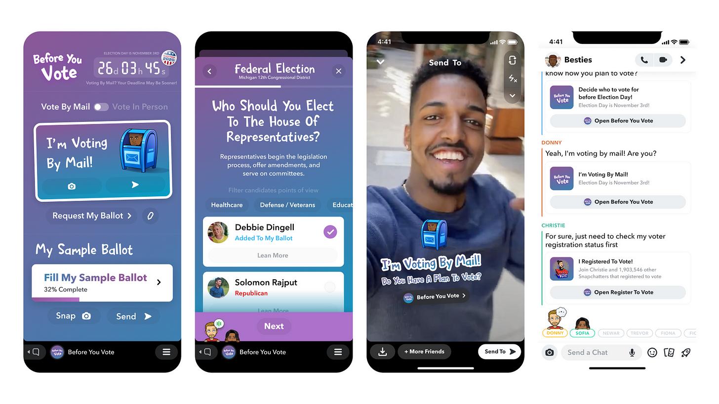 Snapchat voting tools