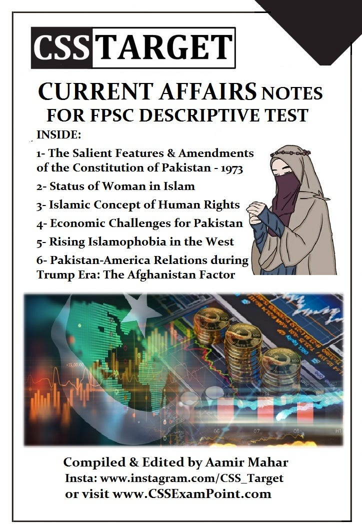 FPSC Descriptive Test Notes by Aamir Mahar (Part II)