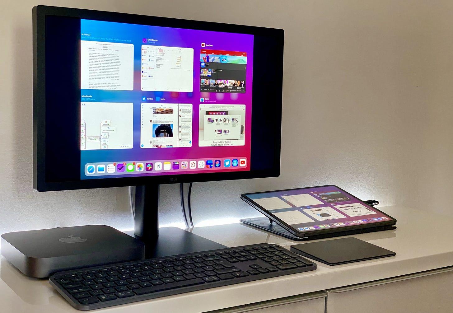 My iPad Pro desktop setup.