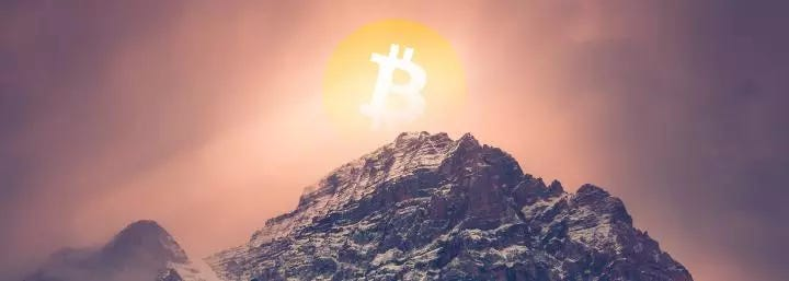 Bitcoin network value at all-time high based on average price paid per BTC