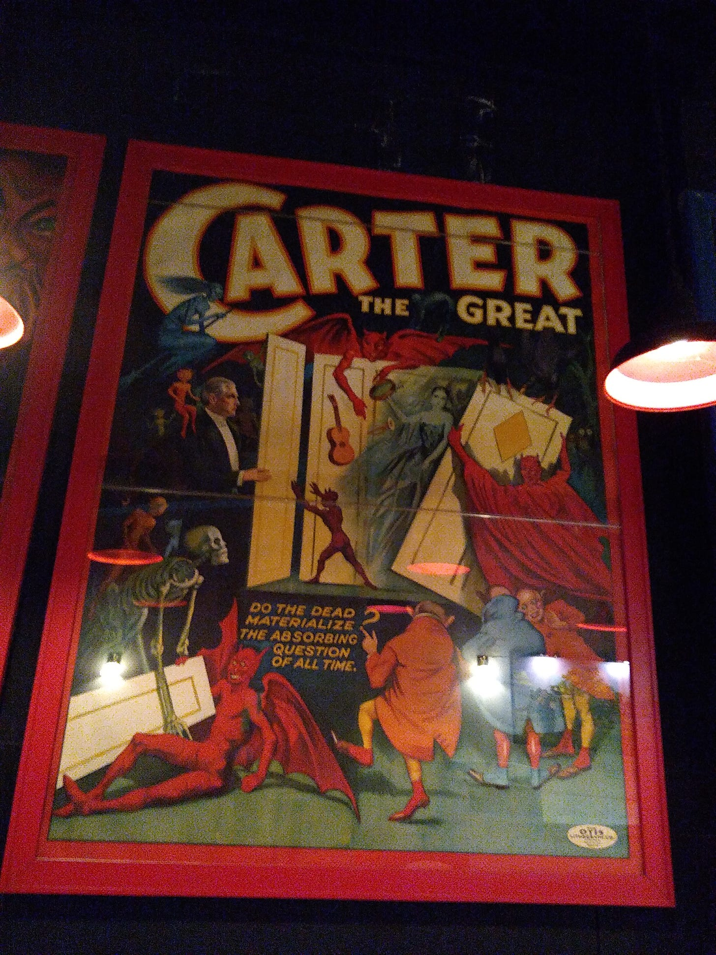 Huge poster for Carter the Great a magician