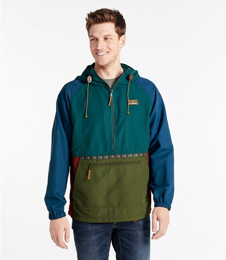 a man wears the ll bean anorak jacket and it looks great. buy it