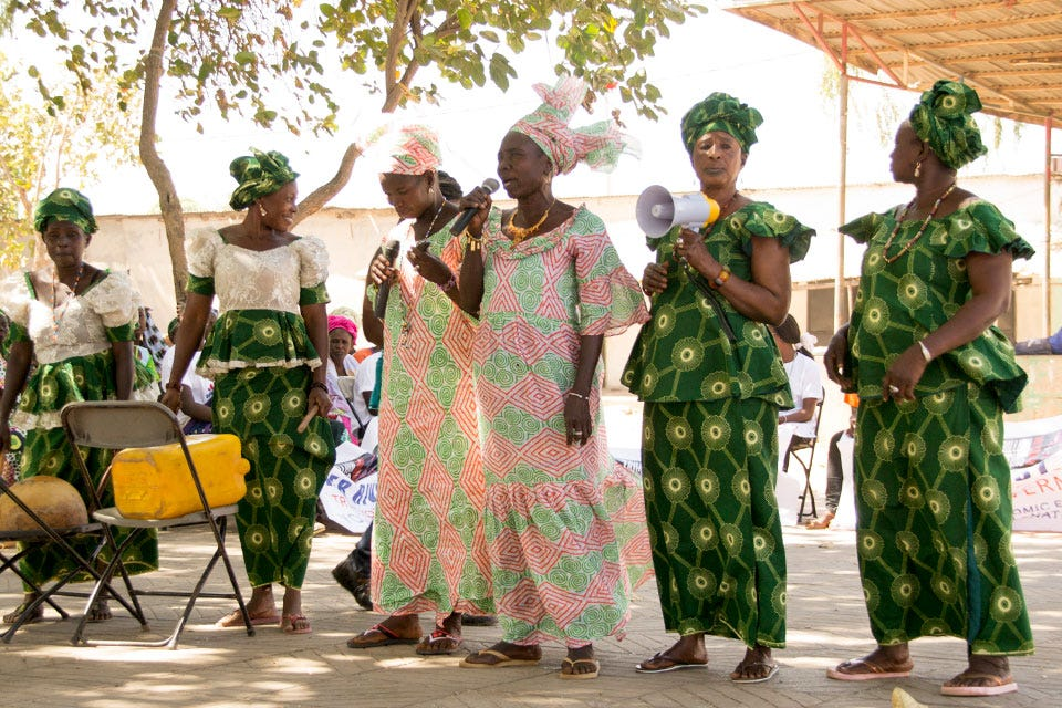 The Gambia Committee on Traditional Practices Affecting the Health of Women and Children (GAMCOTRAP), an advocacy group supported by the UN Trust Fund to End Violence against Women, holds an Anti-FGM workshop aimed at empowering women to claim their rights and those of their daughters in February 2016. Photo: UN Trust Fund to End Violence against Women