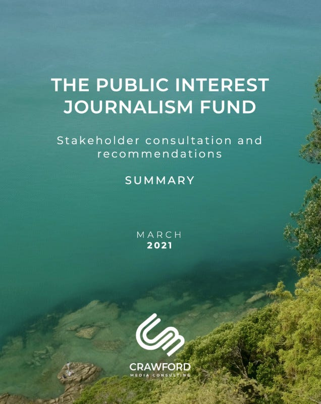 The PIJF stakeholder report looked at funding public interest journalism in New Zealand