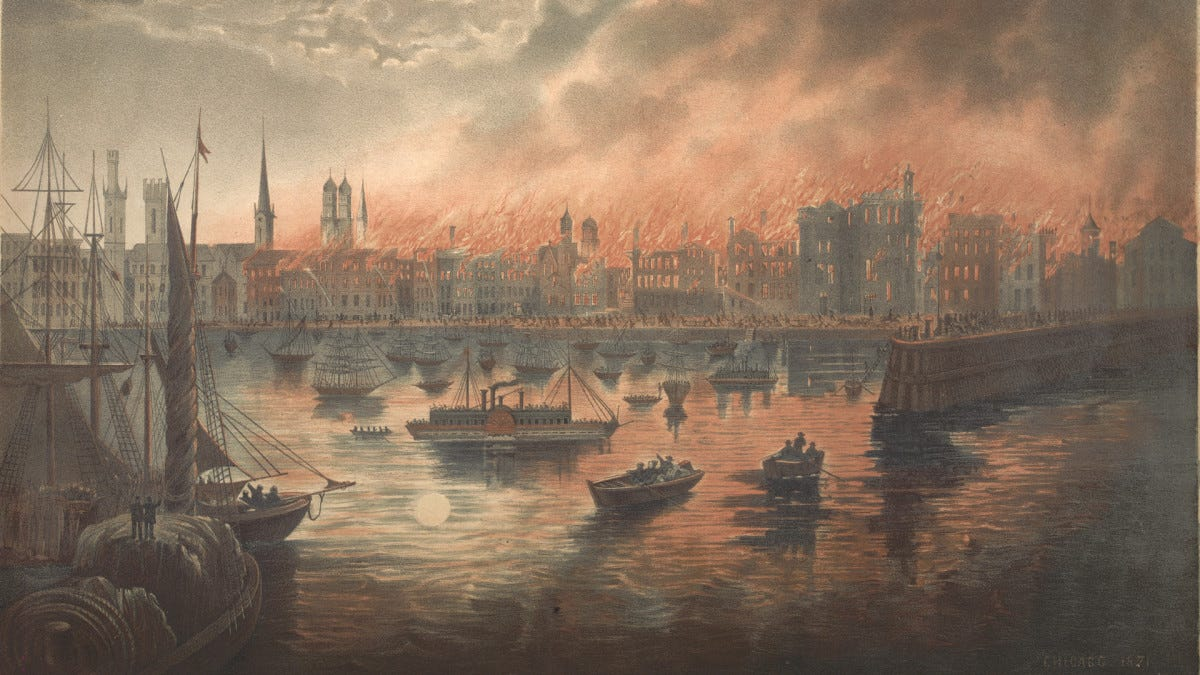 Great Chicago Fire Begins - HISTORY