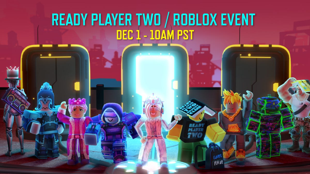 """Fandom on Twitter: """"Ernest Cline's 'Ready Player Two' prepares for launch  with an Oasis-themed treasure hunt on Roblox '7 portals. 7 games. 7 quests.  7 relics. Follow the clues. Find the treasures' ("""