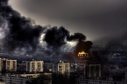 """""""City on Fire"""" by ˙Cаvin 〄 is licensed under CC BY 2.0"""