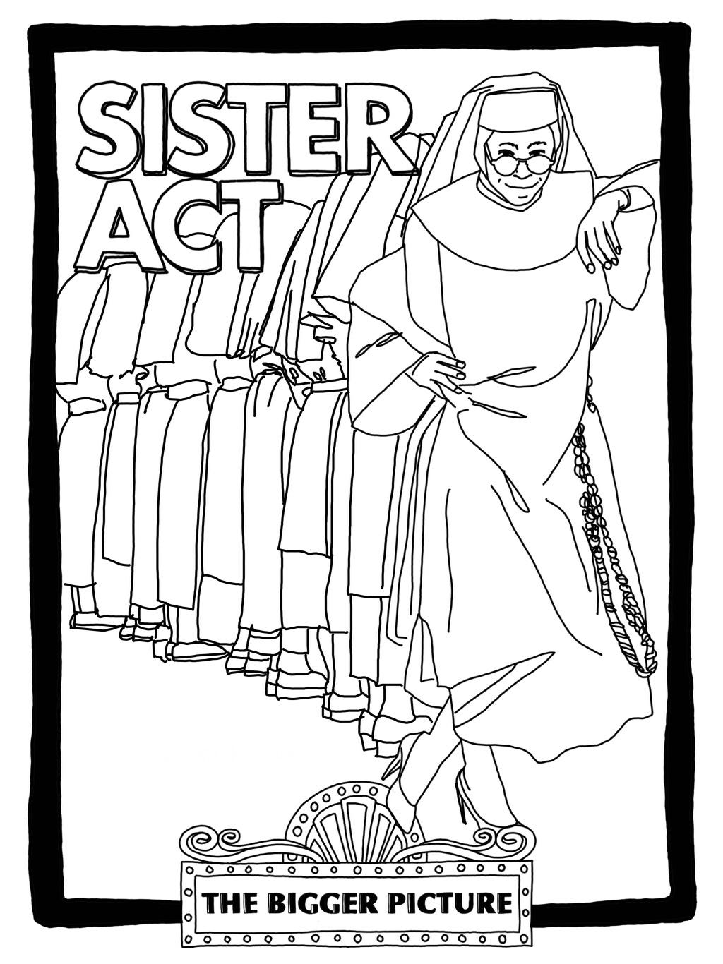 Sister Act coloring page