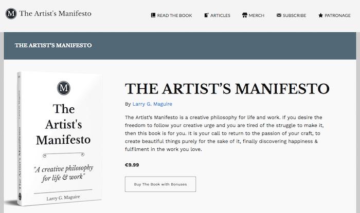 Manifesto Book Launch Website Screenshot