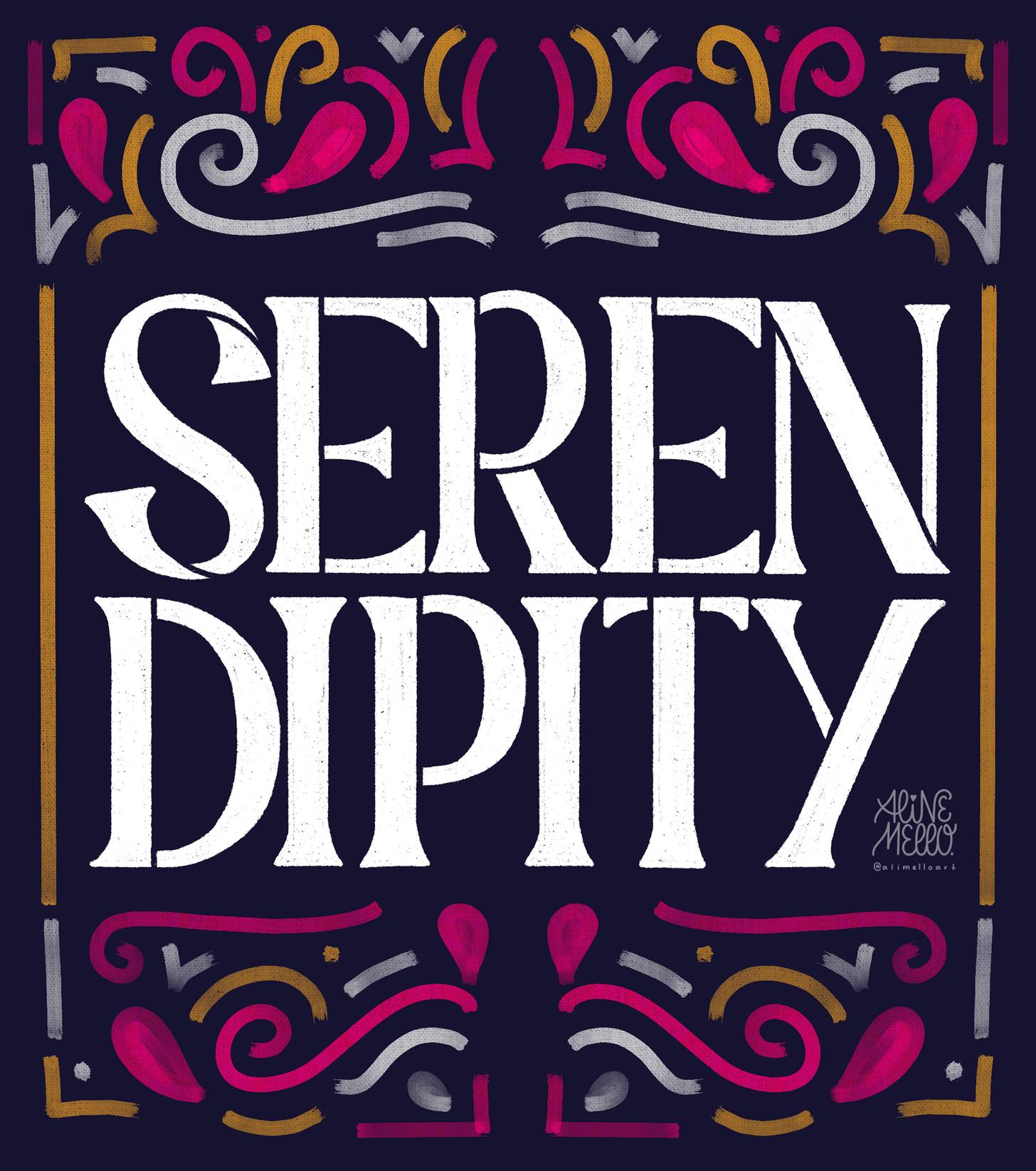 serendipity typography image