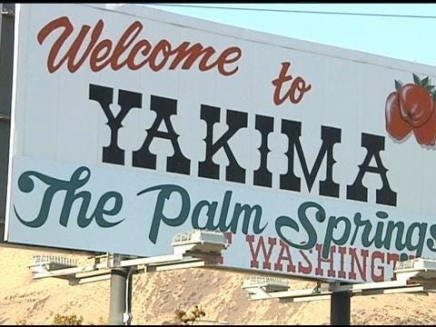 "Sign Owner Explains ""The Palm Springs of Washington"" 