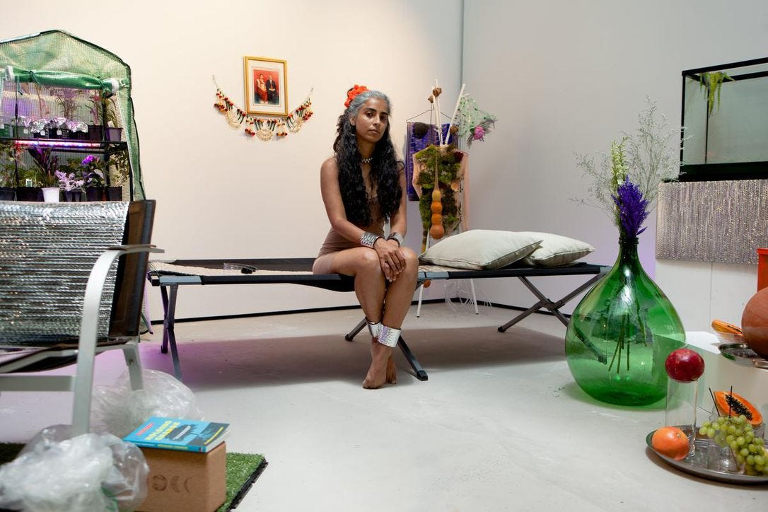 """Artist Hima Batavia created a virtual performance showcasing a day in the life of a climate refugee in the year 2050 for Myseum of Toronto's series """"This Woman's Work."""""""