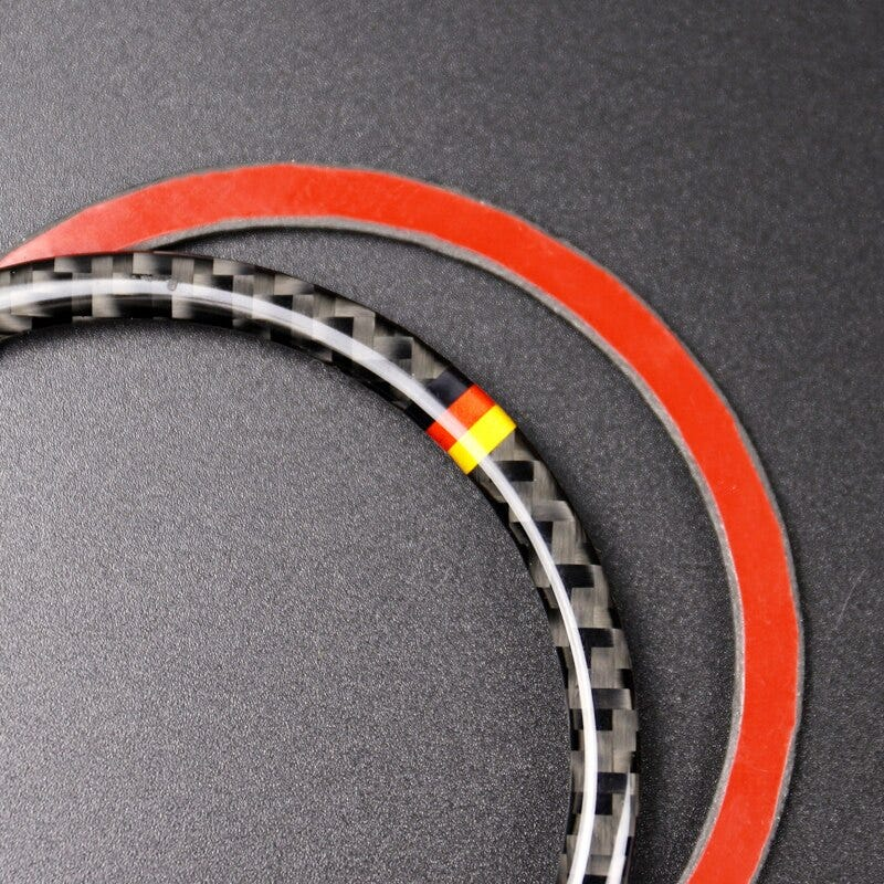 For Mercedes Benz W205 C180 C200 C300 GLC260 4pcs/set Carbon Fiber Car Door Speaker Ring Loudspeaker Sticker Cover