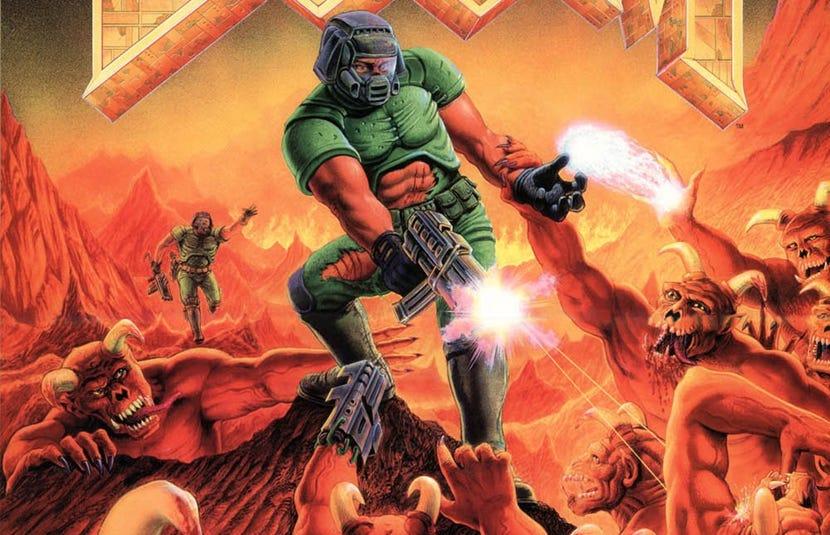 Modder Recreates Look of 'Doom' Boxart in 'Doom' - Bloody Disgusting