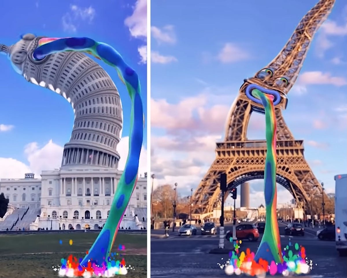 Bring word-famous landmarks to life with Snapchat's AR feature / Digital  Information World