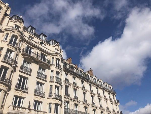 Outside the Paris Conference Venue