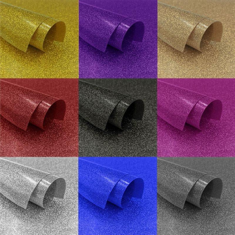 DIY Glitter Heat Transfer Vinyl HTV Printing Sheet Permanent Adhesive T-Shirt Iron On Heat Press Film Art Craft 20x50cm