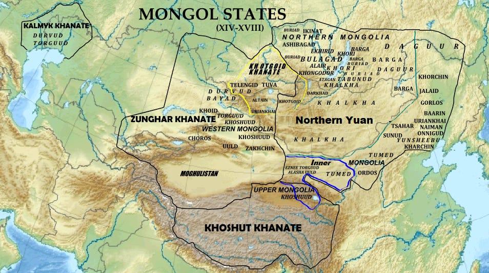 The Kalmyk Khanate in the 17th century