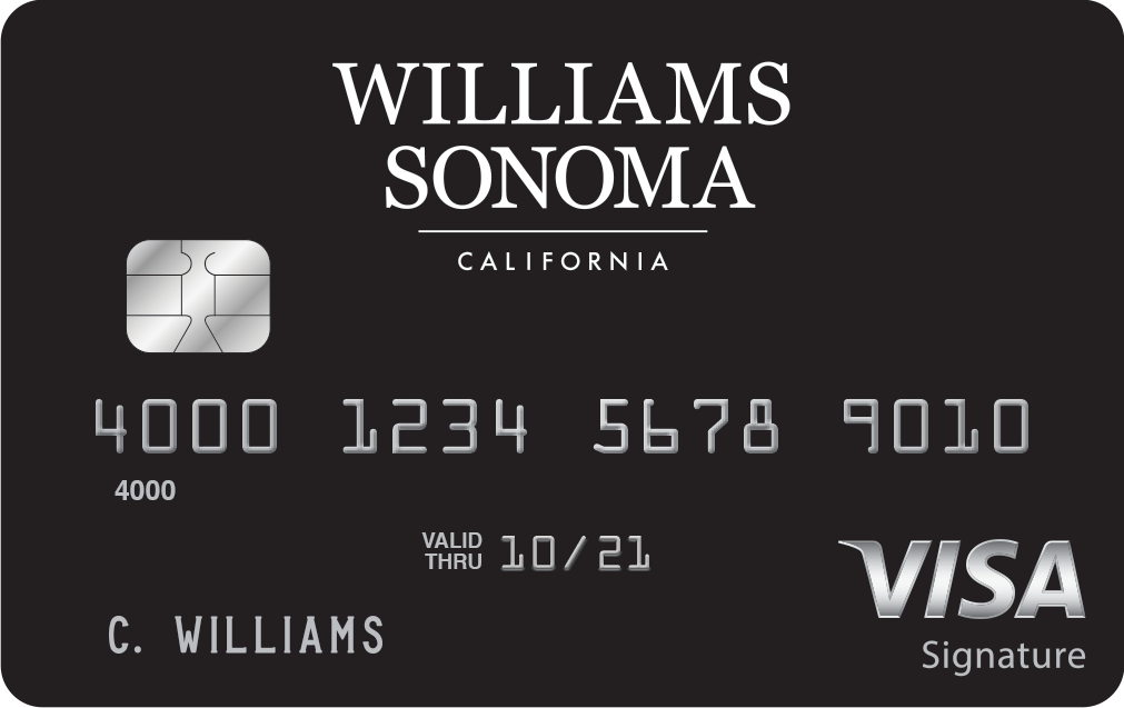 Activate your new Williams Sonoma Visa ® Credit Card Today
