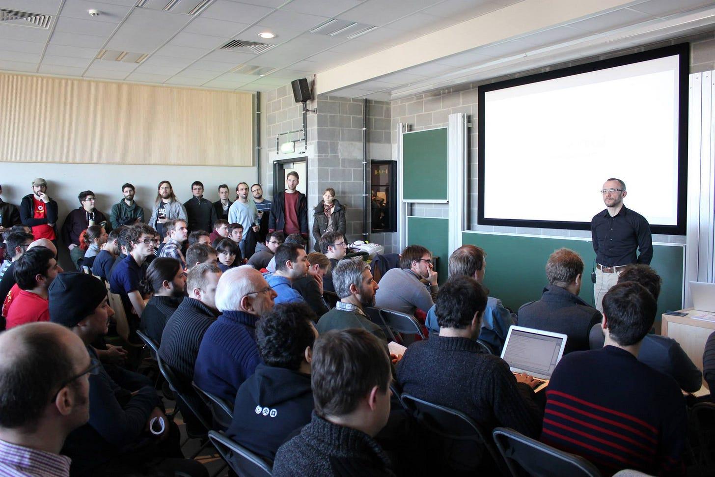 The Python room at FOSDEM 2014
