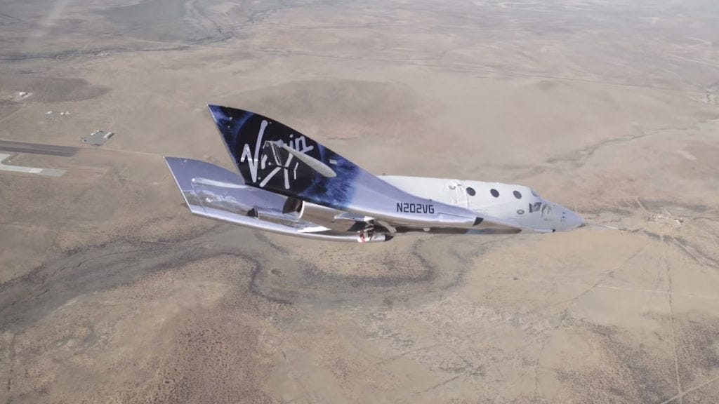 Espaçonave da Virgin Galactic conclui seu 1º voo com sucesso