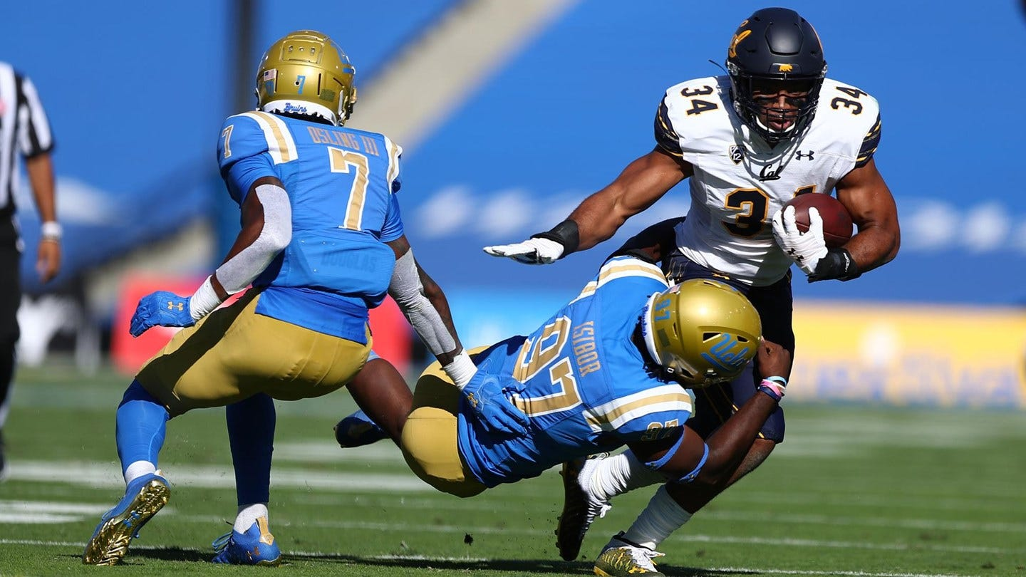 California running back Christopher Brown, Jr., finished the game with eight carries and 25 yards.